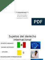 Sujetos Del Derecho Internacional