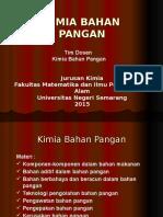 Kimia Bahan Pangan 1 2015