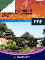 Statistik Daerah Kecamatan Tahunan 2014