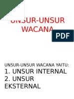 3. UNSUR WACANA