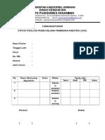Form Monitoring Anestesi Lokal