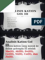 Analisis Kation Gol III