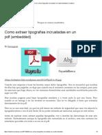 Extraer Tipografias Incrustadas PDF