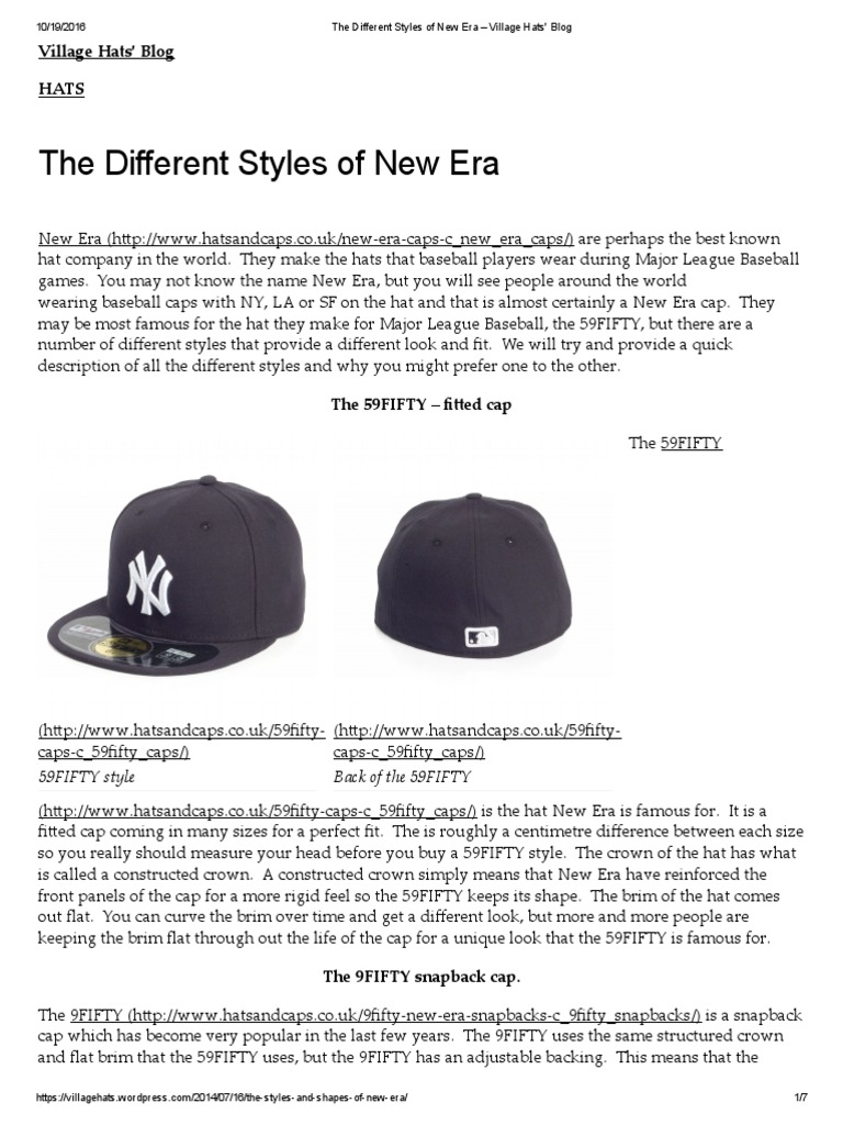 7f10ae7fccd The Different Styles of New Era – Village Hats  Blog