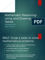 reasoning- using a table