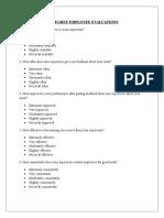 360 Degree Employee Evaluations