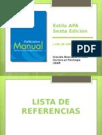 APA - Lista de Referencias