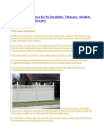 Choose a Vinyl Fence for Its Durability.docx