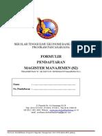 Formulir Pendaftaran MM