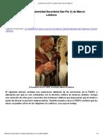 ¿Quiénes Son La FSSPX_ ¿Quién Es Monseñor Lefebvre