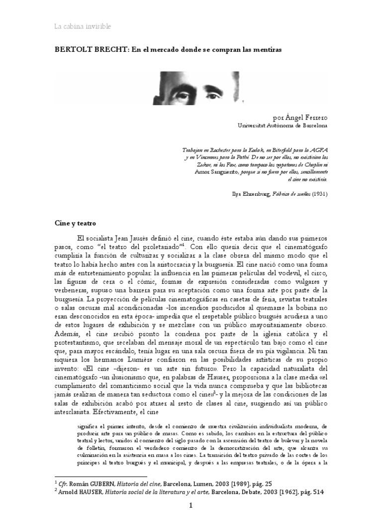 Angel Ferrero - Bertolt Brecht
