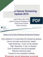 Prostate Cancer Screening Update-2016