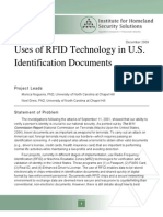 RFID Technology in U.S. Indentification Documents