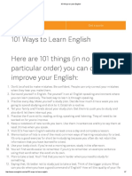 101 Ways to Learn English