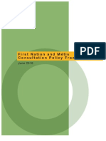 First Nation and Métis Consultation Policy Framework