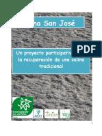 Memoria de actividades de la salina de San José 2016.