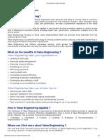 Value Engineering & Its Benefits