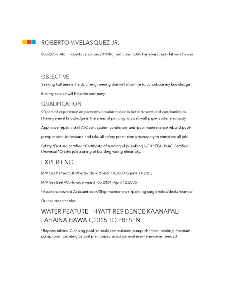 Rvv Resume   Hvac   Building Engineering