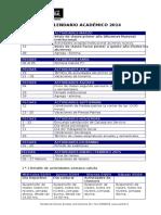 Resumen Calendario Academico 2014