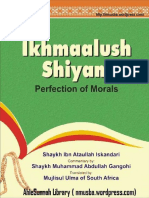Ikhmaal Ush Shiyam Perfection of Morals