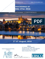 Proceedings of MAC-ETeL 2016