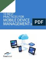 10 Best Practices Mdm
