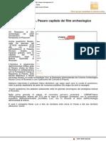 Dopo Rovereto, Pesaro capitale del cinema archeologico - Vivere Pesaro.it, 10 novembre 2016