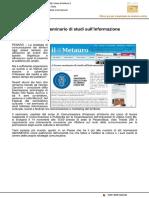 A Pesaro Seminario di studi sull'Informazione - Il Metauro.it, 10 novembre 2016