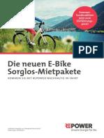 Repower Produktbroschuere E-Bike Angebot