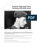 Holocaust Hero Raoul Wallenberg Officially Dead BBC