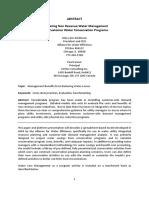 Integrating Non Revenue Water Management
