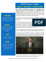 UNHCR External Update August-September -October 2016