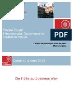 Entrepreneuriat, gouvernance et création de valeur