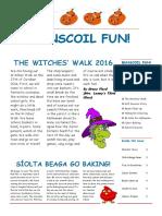 halloween newsletter 2016
