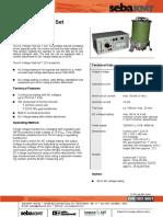 Pressure Tester 75kV AC-DC Tester Data Sheet