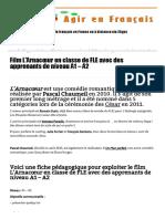 Film L'Arnacœur en Classe de FLE Pour Le Niveau A1 - A2