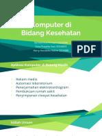 Presentasi Komputer Di Bidang Kesehatan