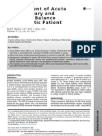 Management of Acute Kidney Injury and Acid Base Balance in the Septic Patient