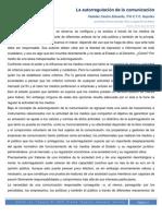 La Autorregulación de la Comunicación - Ética y Legislación de Medios (Valadez Castro Eduardo)