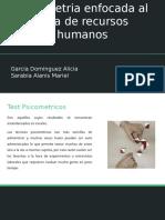 Psicometria en el area de Recursos Humanos