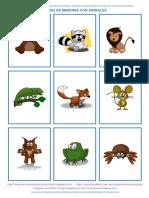 Juego de Memoria Con Animales a Colores A4 (1)