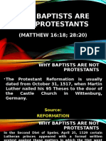 Why Baptists Are Not Protestants