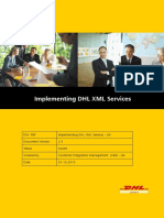 Implementing Dhl XML Services