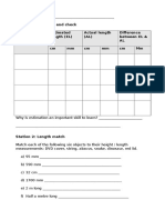 maths measurement station worksheets