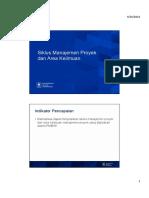 Siklus Manajemen Proyek Dan Area Keilmuan