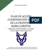PLAN DE ACCIÓN COORDINACIÓN ZONA DE LA FRONTERA        RAMA LOBATOS