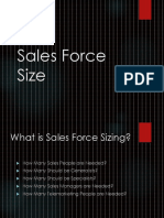 Session 12. Sales Force Size