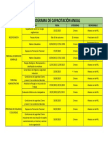 Cronograma Anual de Capacitación