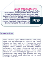 Tannin Based Wood Adhesive Manufacturing Plant, Detailed Project Report, Profile, Business Plan, Industry Trends, Market Research, Survey, Manufacturing Process, Machinery, Raw Materials, Feasibility Study, Investment Opportunities, Cost and Revenue, Plant Economics, Production Schedule, Working Capital Requirement, Plant Layout, Process Flow Sheet, Cost of Project, Projected Balance Sheets, Profitability Ratios, Break Even Analysis