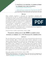 Abordagem da violência no sistema classificatório DSM na perspectiva psicanalítica..pdf